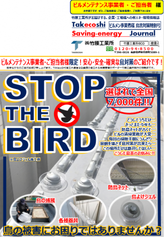 【鳥害】 ビルメンテナンス事業者様・ご担当者様へ